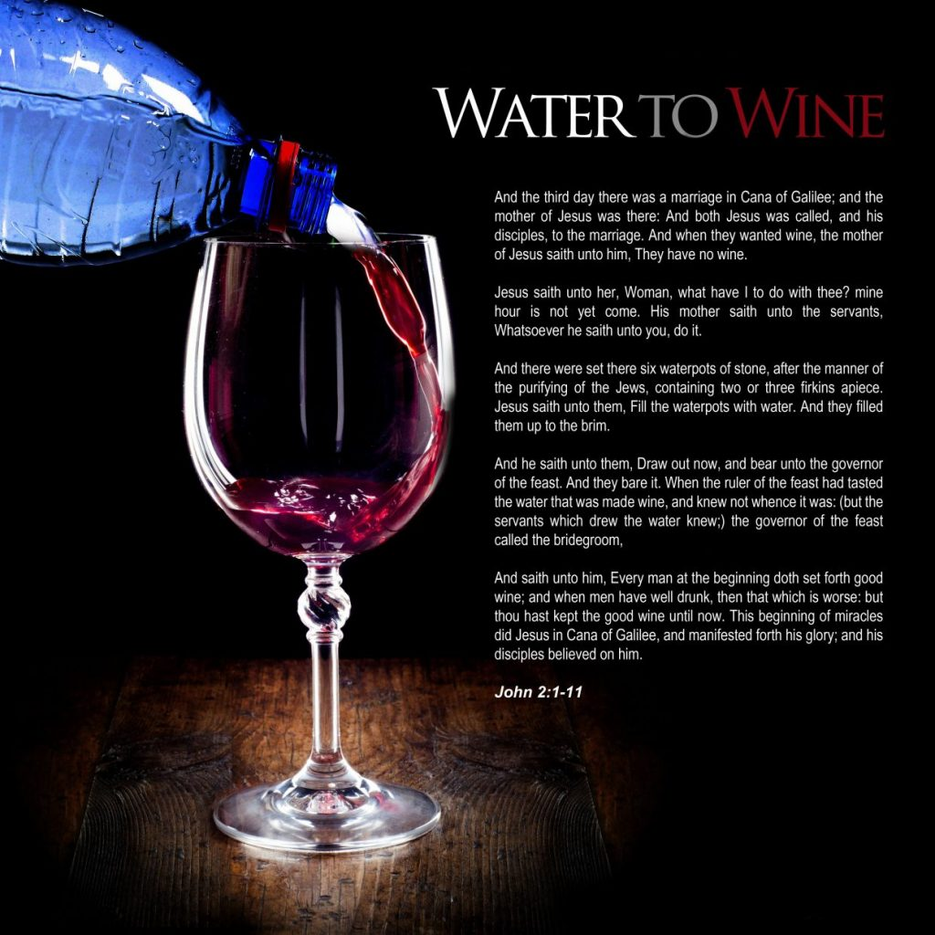 Water to wine design